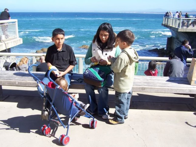 26 years old, attending to my 3 children. Monterey Bay, California. 2006
