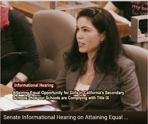 Participating in a Senate informational hearing on Title IX compliance within California school districts. January 20th, 2015