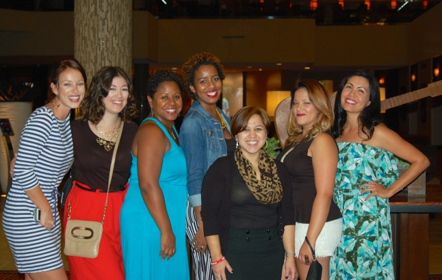 From left to right: Marylouise, Natasha, Consuela, Gloria, Lisette, Jasmine, Christina
