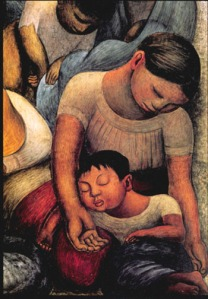 """Mother & Child Sleeping""  -Diego Rivera"
